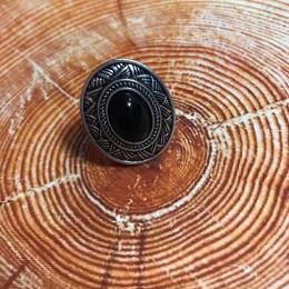 Кольцо Этника черный агат