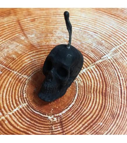Свеча магическая Череп (черная)