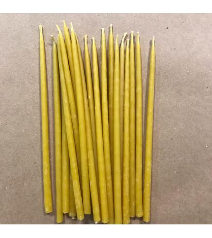 Свеча магическая восковая 15 см желтая