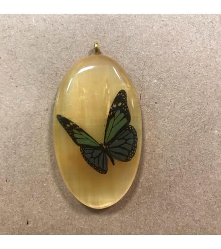 Амулет из селенита Бабочка