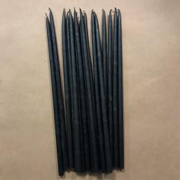 Свеча магическая восковая 22 см черная