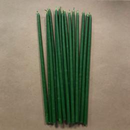 Свеча магическая восковая 22 см зеленая