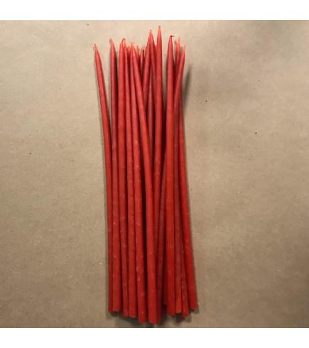 Свеча магическая восковая 26 см красная