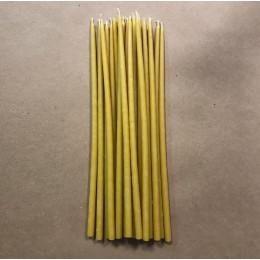 Свеча магическая восковая 26 см желтая