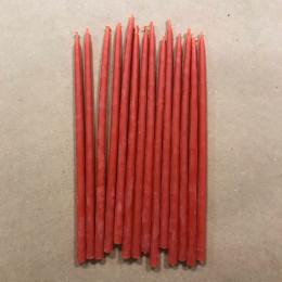 Свеча магическая восковая 15 см красная