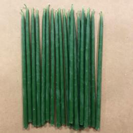 Свеча магическая восковая 15 см зеленая