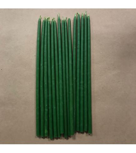 Свеча магическая восковая 18 см зеленая