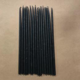 Свеча магическая восковая 18 см черная