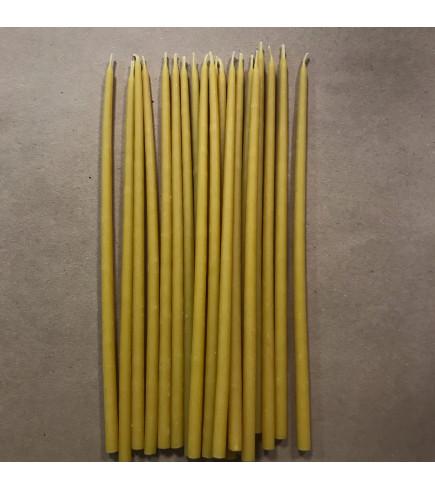 Свеча магическая восковая 22 см желтая