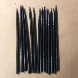 Свеча магическая восковая 15 см черная