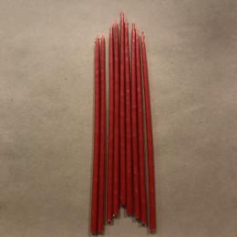 Свеча магическая восковая 22 см красная