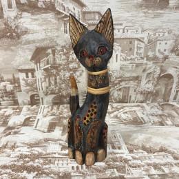 Индонезийский кот серо-коричневый с узором 30 см
