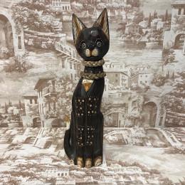 Индонезийский кот резной 40 см