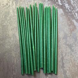 Свеча магическая восковая зеленая 26 см.