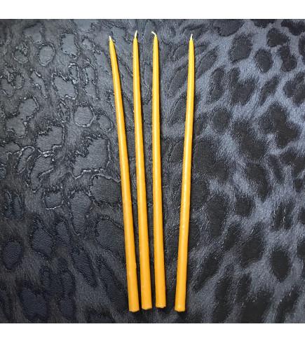 Свеча магическая восковая желтая 26 см.