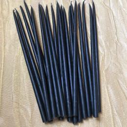 Свеча магическая восковая 22 см. черная
