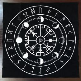 Скатерть для гадания бархатная 50 Х 50 с изображением Рун