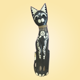 Кошка серая с орнаментом 50 см