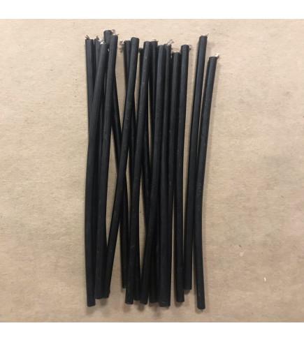 Свеча ритуальная 15,5 см из мервы черная