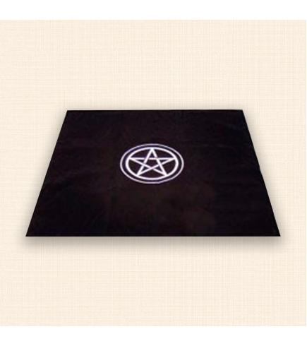 Скатерть для гадания на Таро 80 Х 80 см черная Пентакль