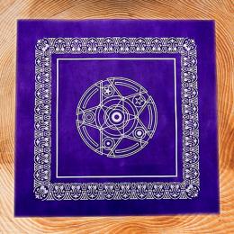 Скатерть для гадания на Таро 50х50 фиолетовая