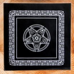 Скатерть для гадания на Таро 48 Х 48 см черная бархатная