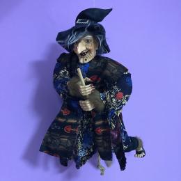 Кукла интерьерная Баба Яга с бородавкой