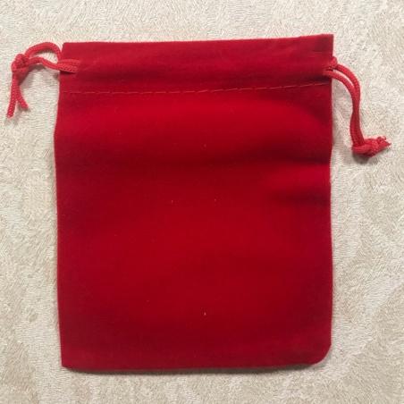 Мешочек из бархата красный 12 Х 10 см.