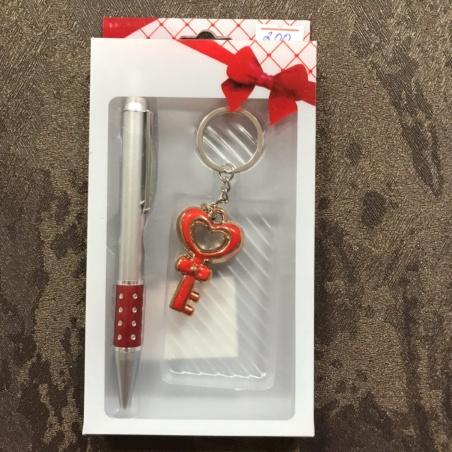 Подарочный набор ручка и брелок-ключик
