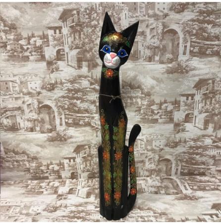 Кошка с узорами из Индонезии 80 см