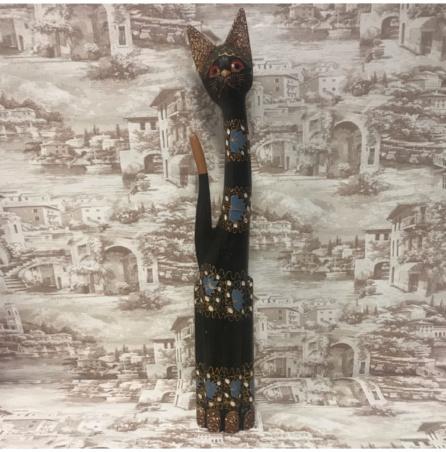 Кошка резная из Индонезии 100 см