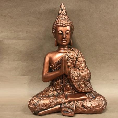 Копилка Будда цвет бронза