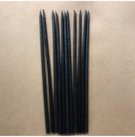 Свеча 26 см восковая черная