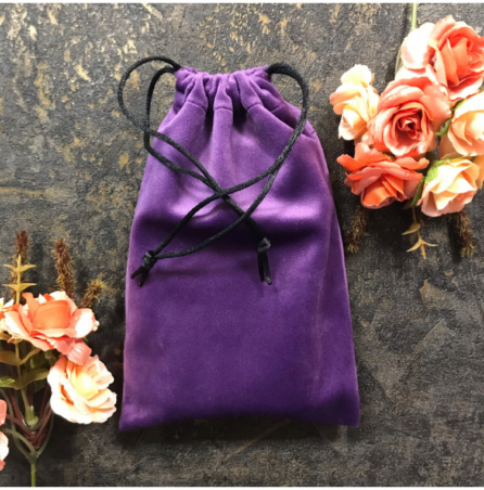 Мешочек для Таро ручной работы фиолетовый