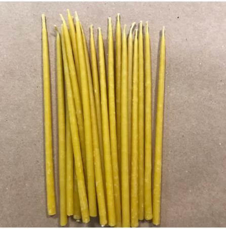 Свеча 15 см восковая желтая