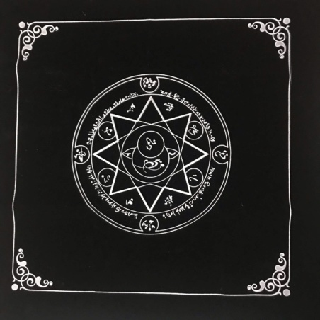 Бархатная скатерть для Таро Октаграмма 50 х 50