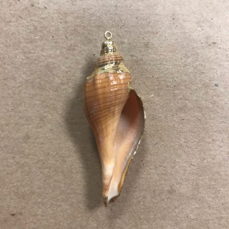 Кулон из перламутра длинная ракушка