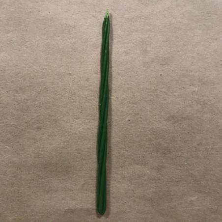 Свеча магическая скрутка зеленая (25мин.)