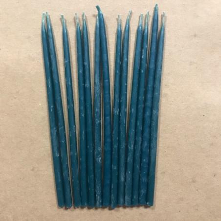 Свеча 15 см восковая синяя