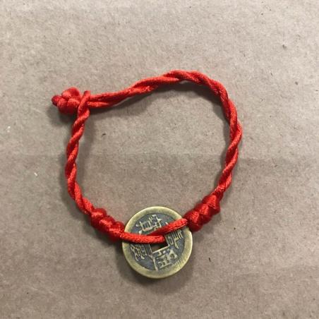 Фэн-Шуй браслет с монеткой