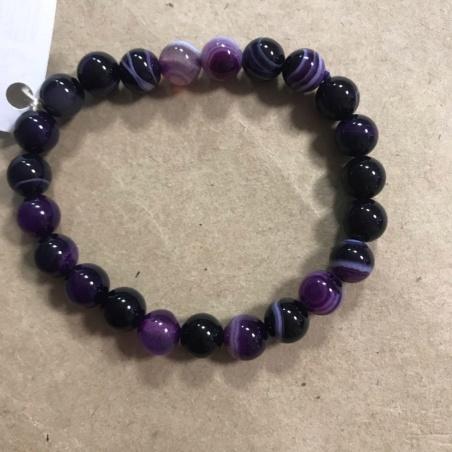 Браслет из натурального фиолетового агата