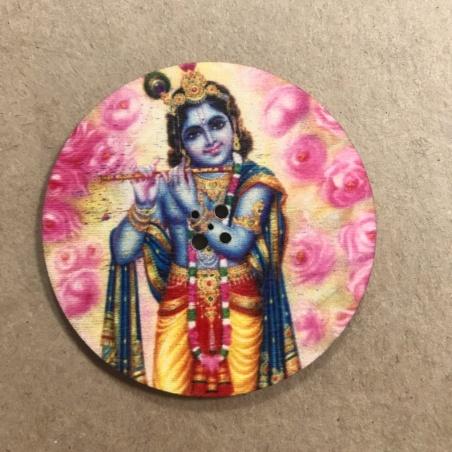 Подставка для благовоний круглая Кришна