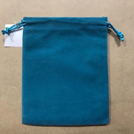 Бархатный мешочек 12 х 15 см бирюзовый