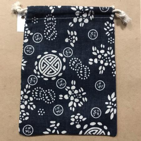 Мешочек для Таро из хлопка темно-синий