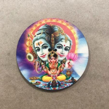 Подставка для благовоний круглая Шива Парвати Ганеша