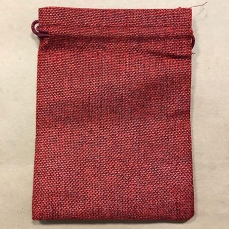 Мешочек для Таро из холста бордовый