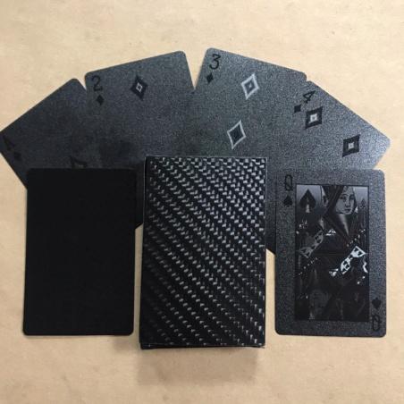 Игральные карты Невидимка черные пластиковые