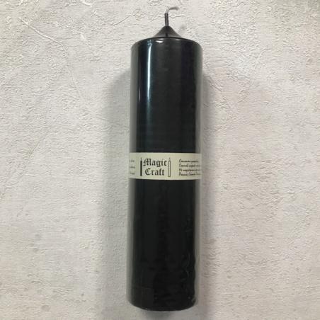 Свеча колонна 22 см черная