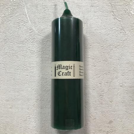 Свеча колонна 14 см зеленая (20 часов)
