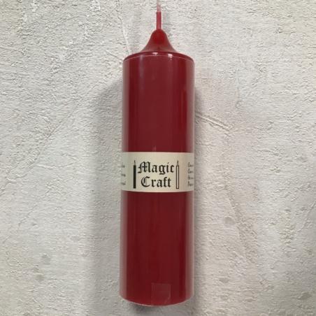 Свеча колонна 14 см красная